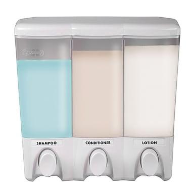 Clear Choice – Distributeur à savon avec 3 réservoirs, blanc