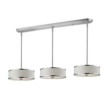 Z-Lite Cameo 9-Light Kitchen Pendant Lighting; White