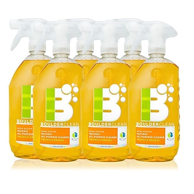 Boulder Clean Natural All-Purpose Cleaner, Valencia Orange, 28 oz - 6/Pack