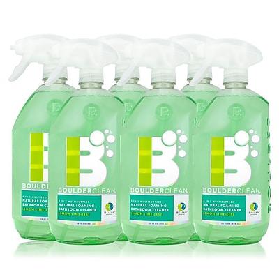 Boulder Clean Natural Foaming Bathroom Cleaner, Lemon Lime Zest, 28 oz - 6/Pack