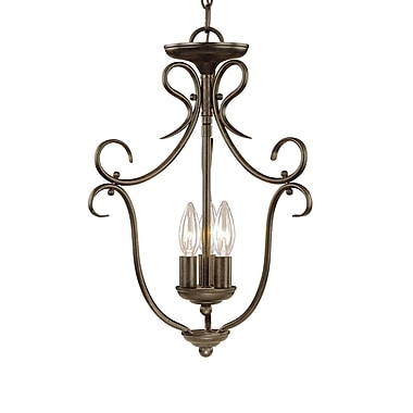Millennium Lighting 3-Light Pendant; Burnished Gold