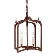JVI Designs Gothic 2-Light Small Foyer Pendant; Rust