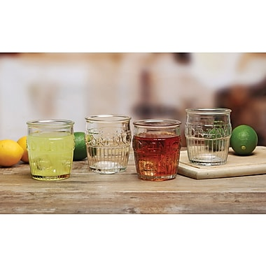 Circle Glass Drink Design 14 oz. Double Old Fashioned Glass (Set of 4)