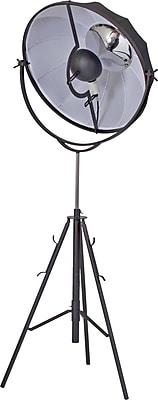 Pangea Home Mary 74.2'' Tripod Floor Lamp; Black