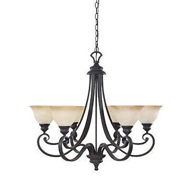 Designers Fountain Barcelona 6-Light Shaded Chandelier
