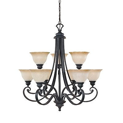 Designers Fountain Barcelona 9-Light Shaded Chandelier