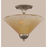 Toltec Lighting 2-Light Semi Flush Mount; Brushed Nickel