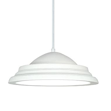 A19 Majorca 1-Light Inverted Pendant; Faux Sherwood Forest Leather