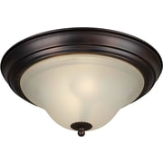Forte Lighting Energy Efficient 2-Light Flush Mount; 13.25'' H x 6'' W