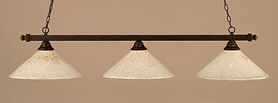 Toltec Lighting 3-Light Kitchen Island Pendant; Dark Granite