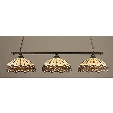 Toltec Lighting 3-Light Billiard Light; Bronze