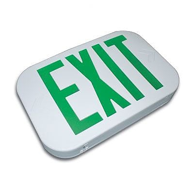 Barron Lighting Thermo Plastic Snap Design Exit Sign; Green