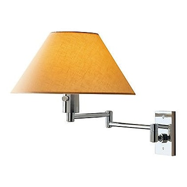 WPT Design Imago Pared 1-Light Swing Arm; Brushed Nickel