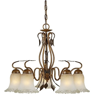Forte Lighting 5-Light Shaded Chandelier