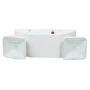 Morris Products Emergency Lighting Unit in White w/ Remote Capable