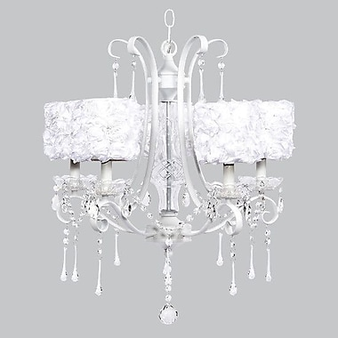 Jubilee Collection Colleen 5-Light Crystal Chandelier; White