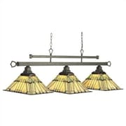 RAM Game Room Prairie 3-Light Billiards Light