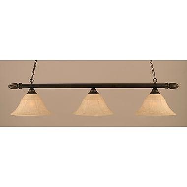 Toltec Lighting 3-Light Round Kitchen Island Pendant; Dark Granite