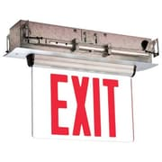 Barron Lighting Single Face Universal Mount Red LED Edge Lit Exit Sign