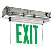 Barron Lighting Single Face Universal Mount Green LED Edge Lit Exit Sign