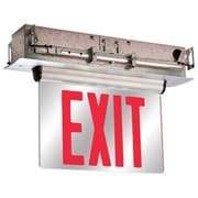 Barron Lighting Double Face Universal Mount Red LED Edge Lit Exit Sign