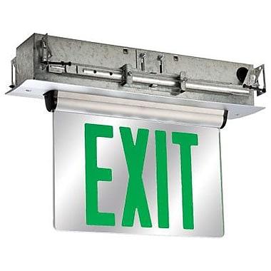 Barron Lighting Double Face Universal Mount Green LED Edge Lit Exit Sign
