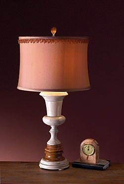 Lex Lighting Desert Sand and Amber 32'' H Table Lamp with Drum Shade