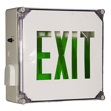 Morris Products Wet Location LED Exit Sign Battery Backup Unit w/ Green Letter