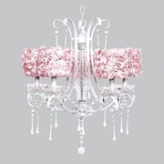 Jubilee Collection Colleen 5-Light Crystal Chandelier; Pink