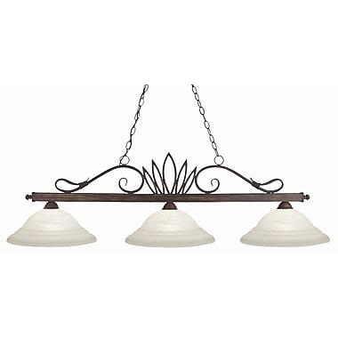 Z-Lite Crown 3-Light Pool Table Light