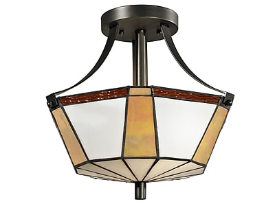 Dale Tiffany Visalia 2-Light Semi Flush Mount
