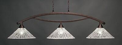 Toltec Lighting Bow 3-Light Billiard Pendant
