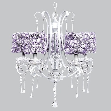 Jubilee Collection Colleen 5-Light Crystal Chandelier; Lavender