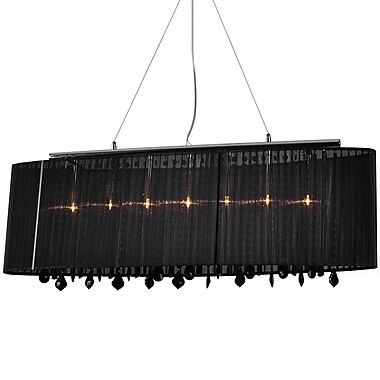 Bromi Design Jasmine 5-Light Pendant; Black