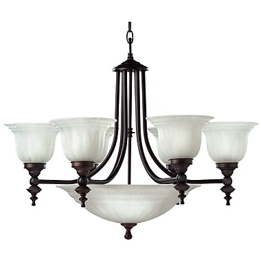 Dolan Designs Richland 9-Light Shaded Chandelier; Royal Bronze