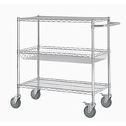 Excel 40'' Three Shelf Heavy Duty Commercial Grade Shelving Cart