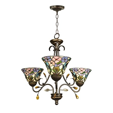 Dale Tiffany 3-Light Shaded Chandelier