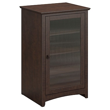 Bush Buena Vista Audio Cabinet or Bookcase, Madison Cherry (MY13840-03)