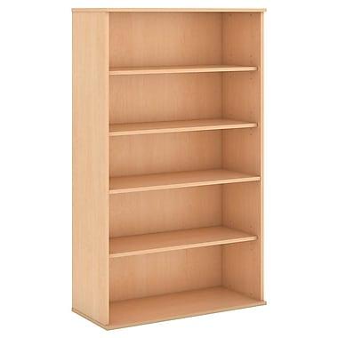 Bush Business Furniture 66H 5 Shelf Bookcase, Natural Maple (BK6636ACFA)