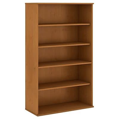 Bush Business Furniture 66H 5 Shelf Bookcase, Natural Cherry (BK6636NCFA)