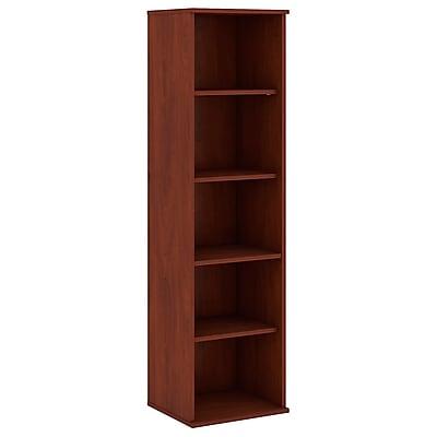 Bush Business Furniture 66H 5 Shelf Narrow Bookcase, Hansen Cherry (BK6618HCFA)