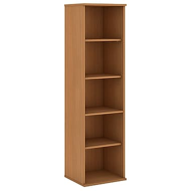Bush Business Furniture 66H 5 Shelf Narrow Bookcase, Modern Cherry (BK6618MC)