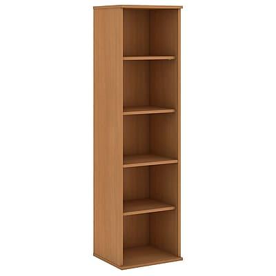 Bush Business Furniture 66H 5 Shelf Narrow Bookcase, Modern Cherry (BK6618MC)