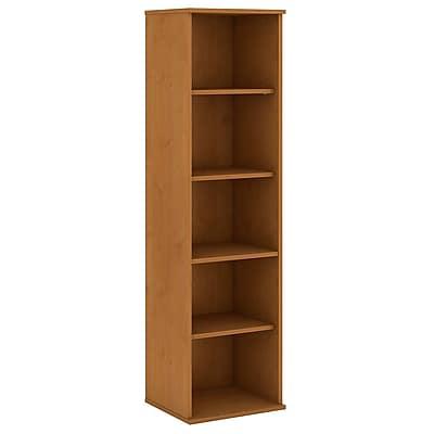 Bush Business Furniture 66H 5 Shelf Narrow Bookcase, Natural Cherry (BK6618NCFA)