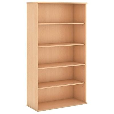 Bush Business Furniture 72H 5 Shelf Bookcase, Natural Maple (BK7236AC)