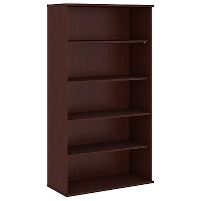 Bush Business Furniture 72H 5 Shelf Bookcase, Harvest Cherry (BK7236CS)