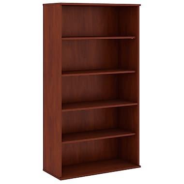 Bush Business Furniture 72H 5 Shelf Bookcase, Hansen Cherry (BK7236HC)