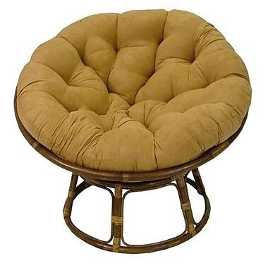 Bay Isle Home Papasan Premium Lounge Chair Cushion; Camel