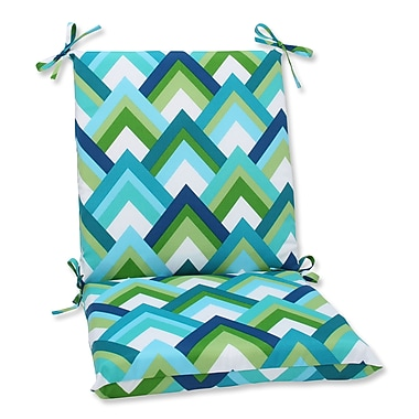 Pillow Perfect Outdoor Lounge Chair Cushion; Resort Peacock