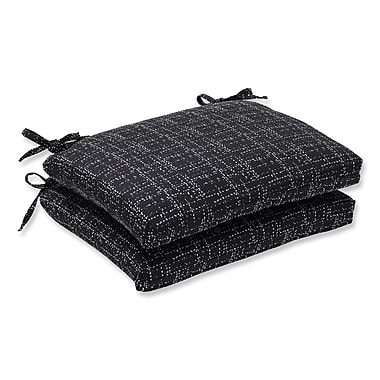Pillow Perfect Outdoor Dining Chair Cushion (Set of 2); Conran Black